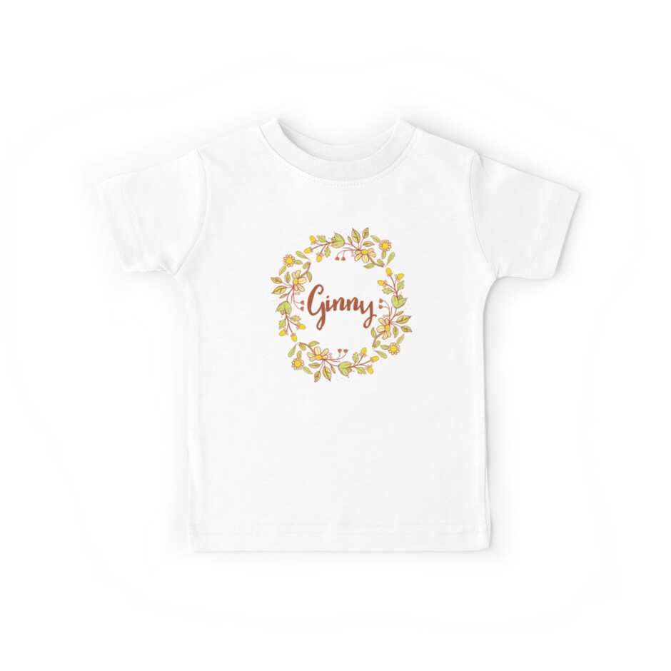 Ginny lovely name and floral bouquet wreath by thetypographer