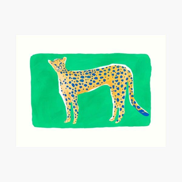Leopard - Green Art Print