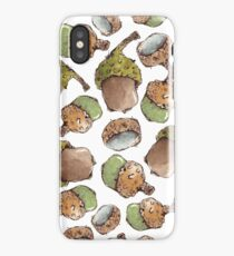 Watercolor Acorns iPhone Case/Skin