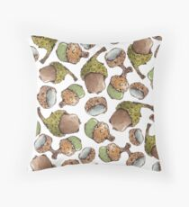 Watercolor Acorns Throw Pillow
