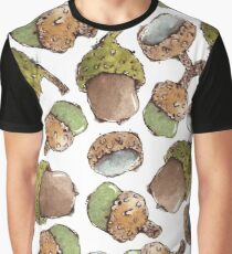 Watercolor Acorns Graphic T-Shirt