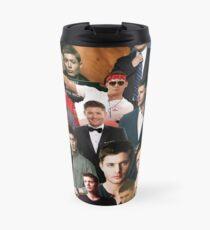 Jensen Ackles Collage  Travel Mug