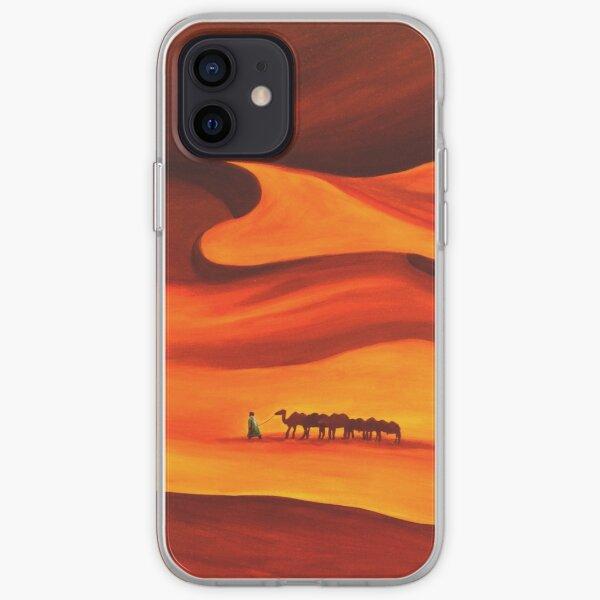 Caravane dans le désert Coque souple iPhone