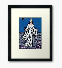 Yemanja the Orisha of the Sea Watercolour Framed Print