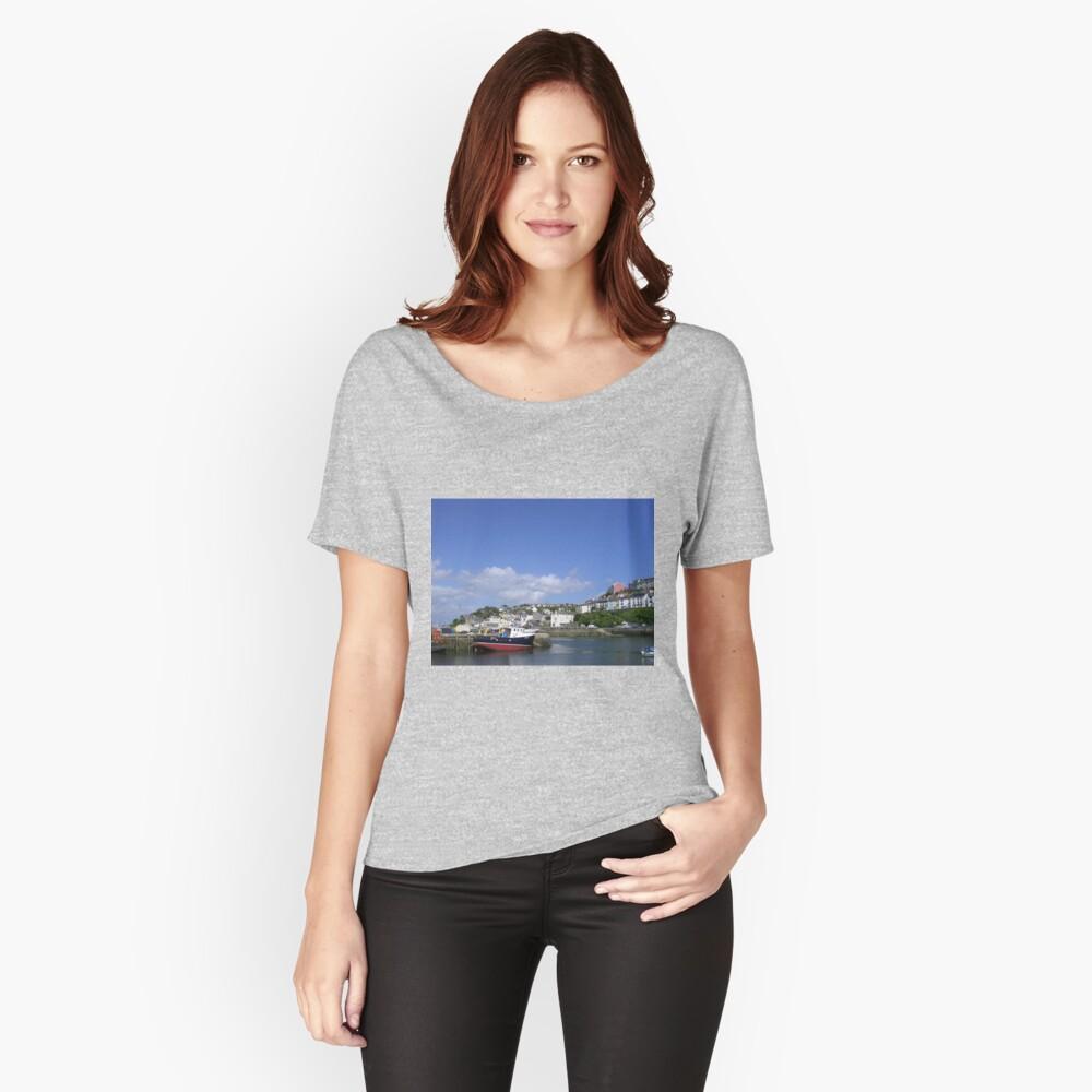 Brixham Harbour, Devon Women's Relaxed Fit T-Shirt Front