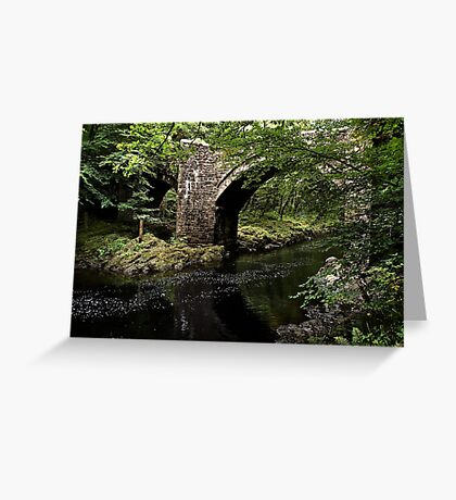 Holne Bridge Greeting Card