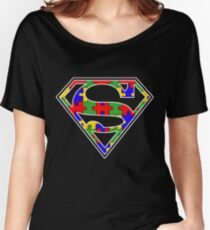 Autism Awareness Super Hero Shirt Women's Relaxed Fit T-Shirt