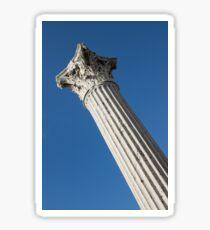 Classical Corinthian Column - Ancient Pompeii Graceful Beauty Left Sticker