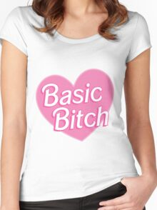 Basic Bitch Sky Blue Women's Fitted Scoop T-Shirt