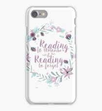 Reading to remember & Reading to forget iPhone Case/Skin