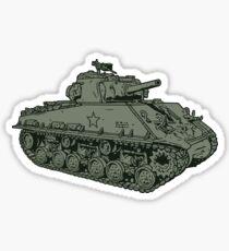 M4 Sherman Tank Sticker