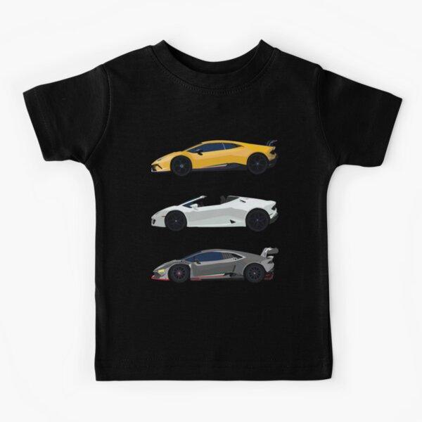 Huracan Minimalist Lamborghini Huracán variant Kids T-Shirt