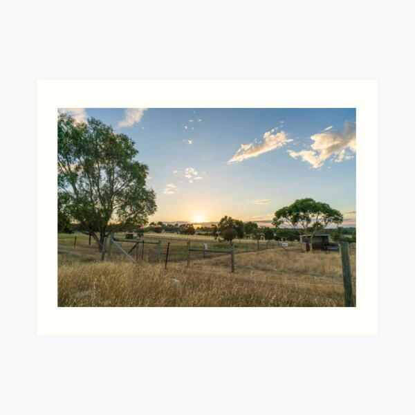 Sunset in the countryside Art Print