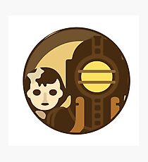 Bioshock Big Daddy and Lil Sister icon Photographic Print