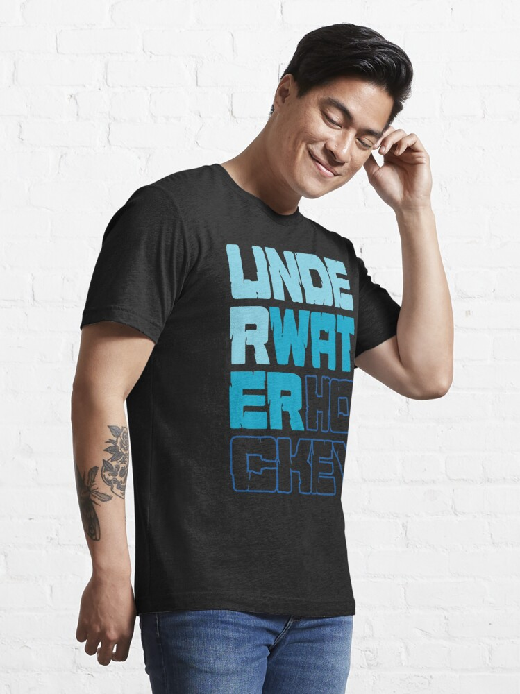 Alternate view of Underwater Hockey Words Essential T-Shirt