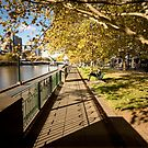 Autumn afternoons - Southbank, Melbourne Australia by Norman Repacholi