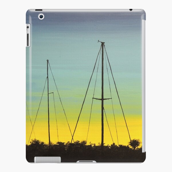 Spacious skies with docked sail boats iPad Snap Case
