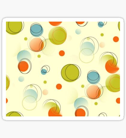 Midcentury Modern Bubble Dots Abstract Pattern Sticker