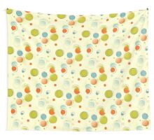 Midcentury Modern Bubble Dots Abstract Pattern Wall Tapestry