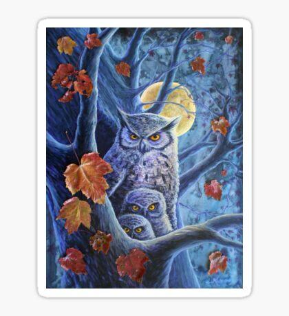 Harvest Moon Owls Sticker