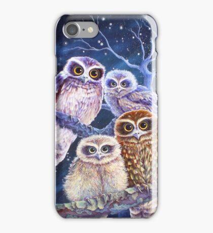 Boobook Owl Family iPhone Case/Skin
