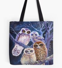 Boobook Owl Family Tote Bag