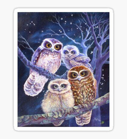 Boobook Owl Family Sticker
