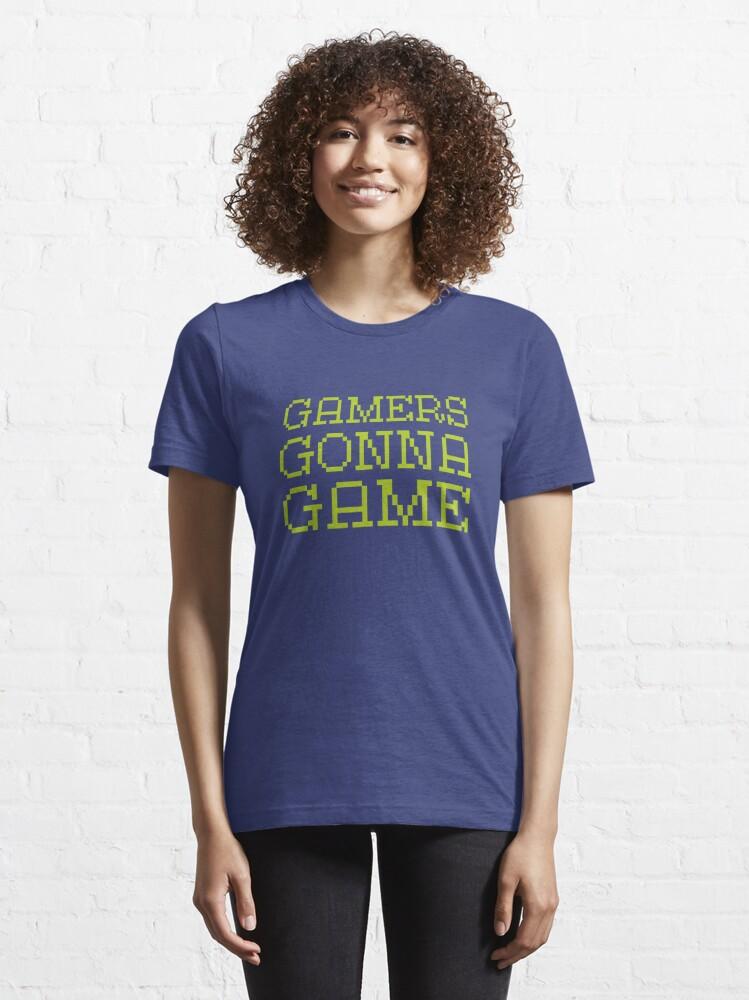 T-shirt essentiel ''Les joueurs vont jeu': autre vue