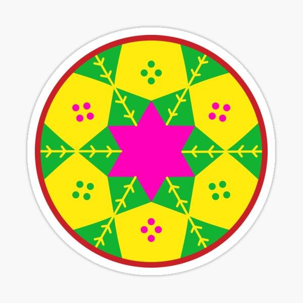 Ethiopian baskets pattern Sticker