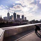 Cubicle lament - Southbank Melbourne by Norman Repacholi