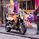 Two wheel urban camo - Melbourne Australia by Norman Repacholi