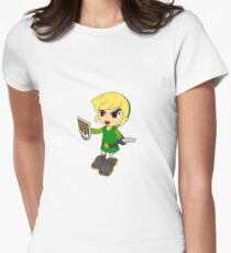Toon Link on the edge! Women's Fitted T-Shirt