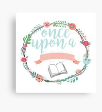 Once upon a book Canvas Print