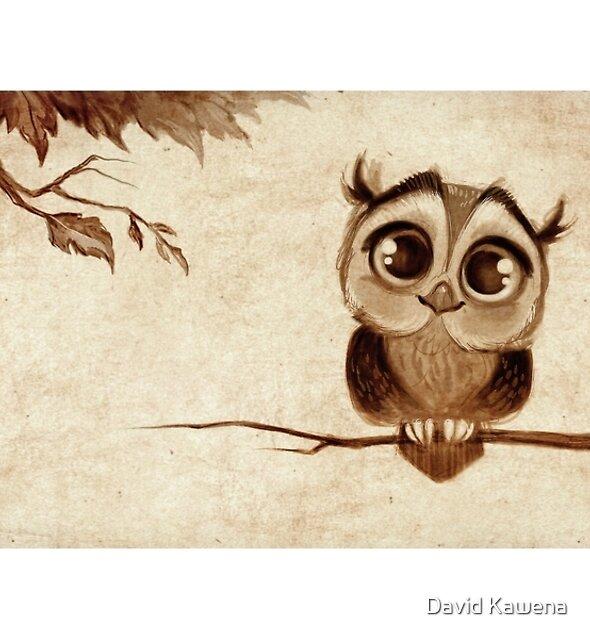 Doodles Series - Owl Mug by David Kawena