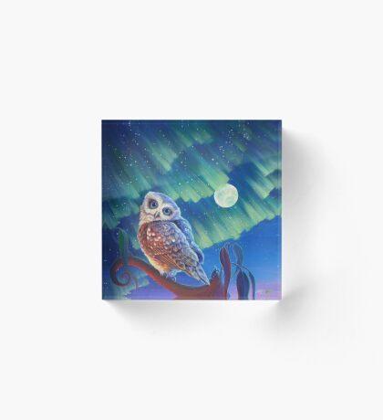 Aurora Owl Acrylic Block