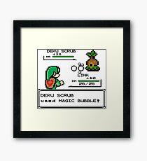 Zelda Pokemon Fight Framed Print