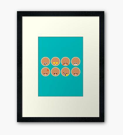 Emoji Building - Pancakes Framed Print