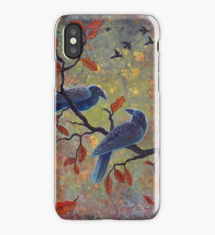 Autumn Ravens iPhone Case