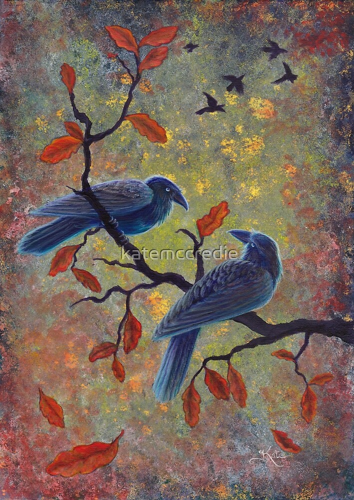 Autumn Ravens by katemccredie