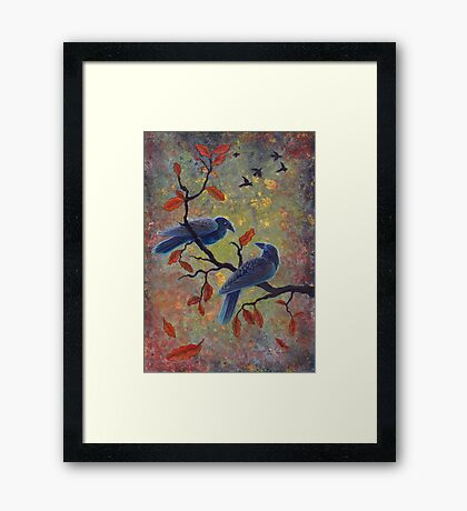 Autumn Ravens Framed Print