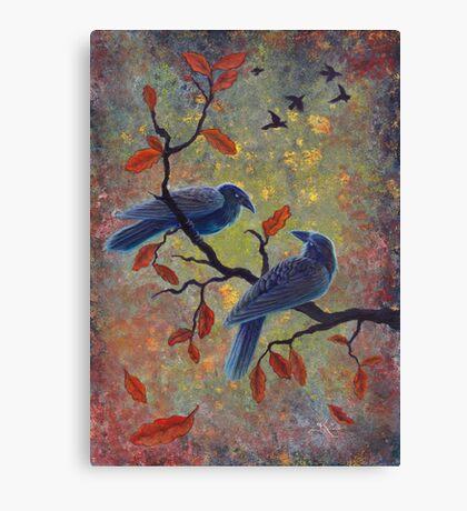 Autumn Ravens Canvas Print