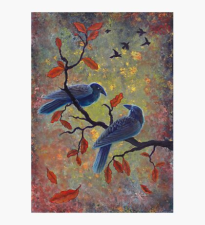 Autumn Ravens Photographic Print