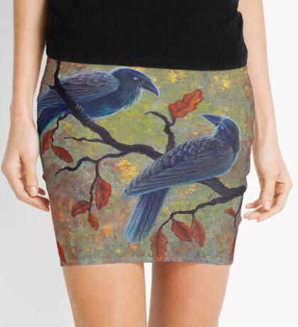 Autumn Ravens Mini Skirt