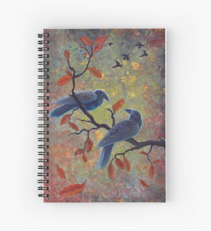 Autumn Ravens Spiral Notebook