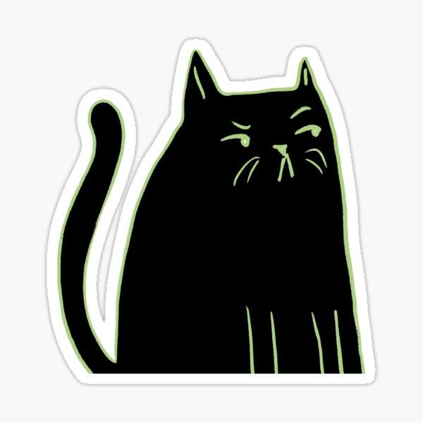 Grumpy cat judging you Sticker
