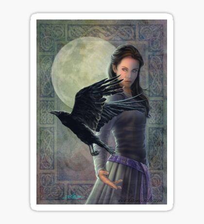Celtic Raven Sticker