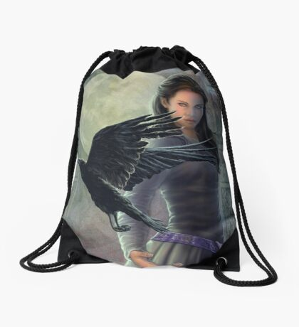 Celtic Raven Drawstring Bag
