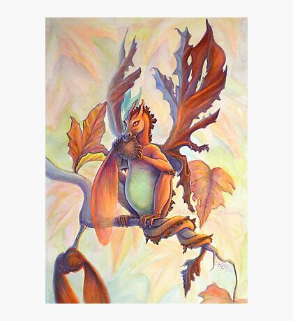 Maple Leaf Fairy Dragon Photographic Print