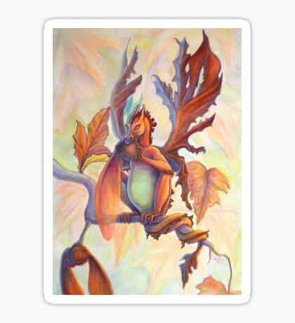 Maple Leaf Fairy Dragon Sticker
