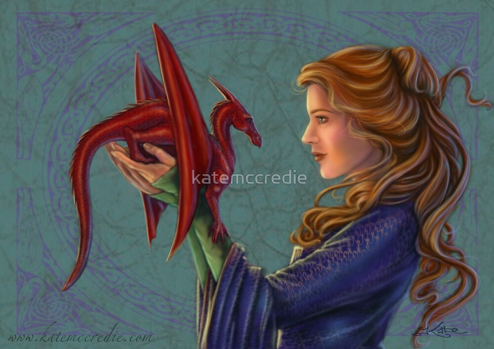 Young Red Dragon by katemccredie
